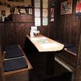 6名様の個室テーブル席です。優しい灯に灯された空間は、どこかゆっくりと時間が流れているように感じます。合コンや女子会にオススメのお部屋です♪