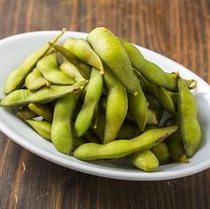 料理メニュー写真お酒の肴の定番人気!羅臼産塩の茹で枝豆