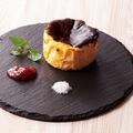 料理メニュー写真バスク風 チーズケーキ