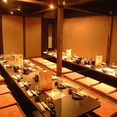 団体様も個室でお部屋をお作りいたします。会社宴会はもちろん、パーティ、サークルや合コンなどの大規模宴会にも対応いたします。