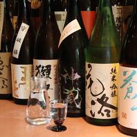豊富な日本酒の数々