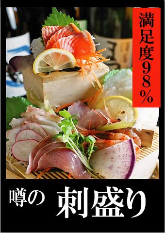 幅広い年齢層から人気の産地直海鮮居酒屋!函館直送の海鮮で作る自慢の刺し盛500円!