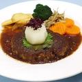 料理メニュー写真和風ハンバーグ 150g  (ライスorパン付き)