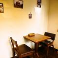 2名様用テーブル席×4