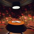 円卓を囲んで極上肉料理や鍋料理を召し上がれ♪仲間内の飲み会に大人気の円卓個室!