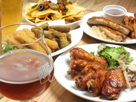 クラフトビールに合うさまざまなアメリカ料理をご用意♪