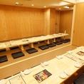 最大58名様までの個室です。60名様以上、最大76名様位で貸切にできます。