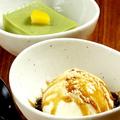 料理メニュー写真[デザート] 抹茶ミルク寒天/バニラアイス黒みつきなこがけ