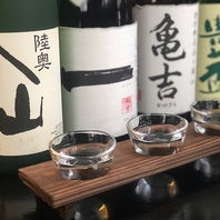 選べる!人気の地酒飲み比べ