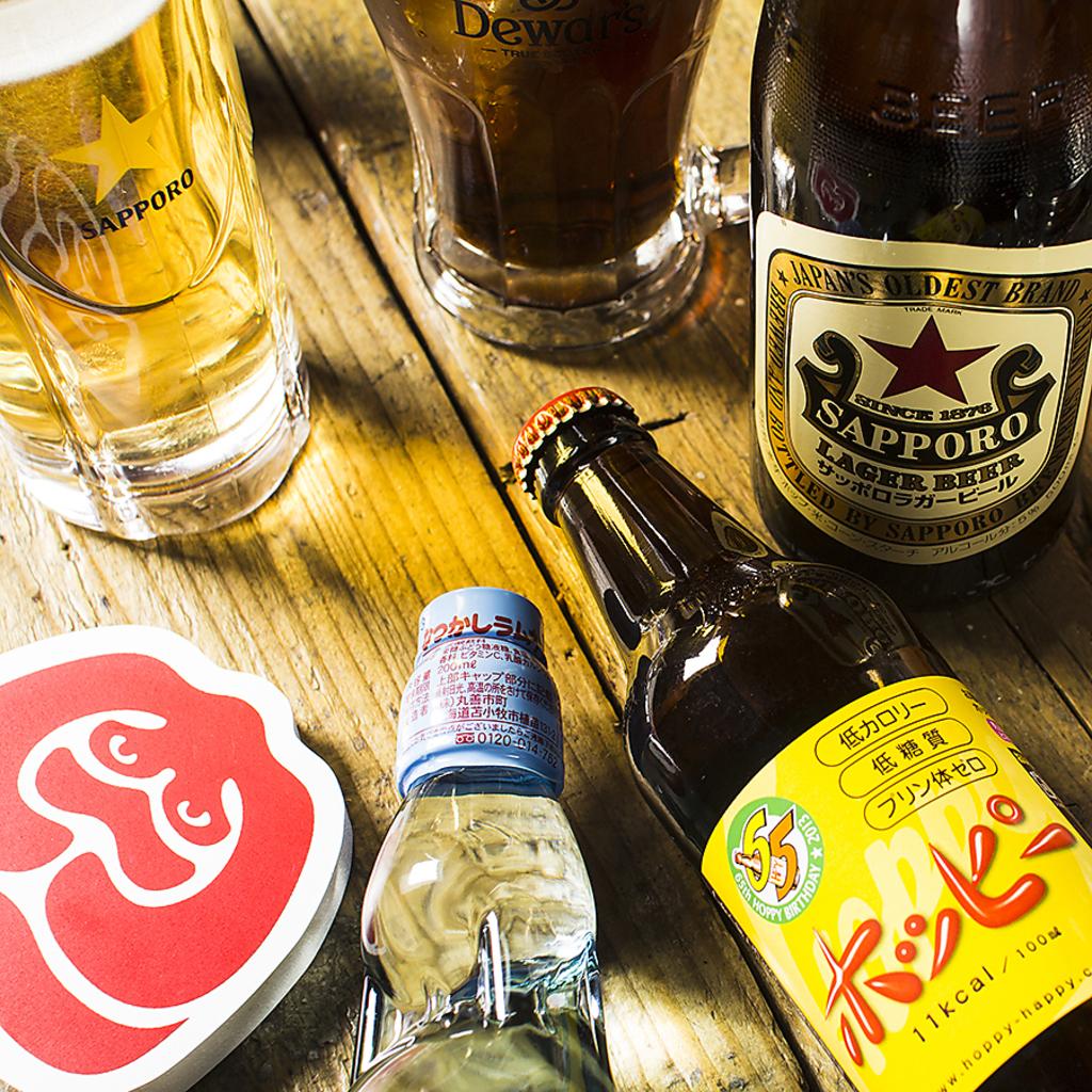 生ビール、デュワーズハイボール、スパークリング含む120分飲み放題980円(抜)★