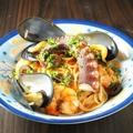 料理メニュー写真明石のたこ足一本入り 海の幸スパゲッティ ペスカトーレ S/L