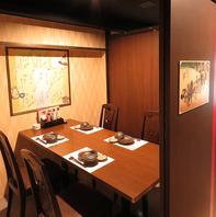 産地にこだわりぬいた料理と全席完全個室が魅力。