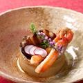料理メニュー写真鮑と蟹のステーキ