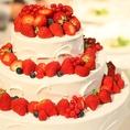 結婚式の二次会に…【ウェディングケーキ】※写真はイメージです。