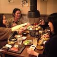 鮮度の高いお肉を、ご安心してお召し上がり頂けます。親しい仲間とお愉しみ下さい。