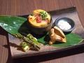 料理メニュー写真★野菜焼き3種盛り合わせ。