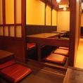 ベランダ席から覗く掘りごたつ個室♪2部屋合わせて24名様までの宴会もできます!