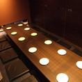 少し大きめのグループに最適な12名様用の堀ごたつ個室です。広島駅新幹線口北口徒歩1分なので、集合・解散にも便利です。