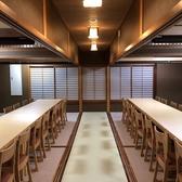 最大宴会人数40名様~50名様まで可能な、広々としたテーブル個室は、会社宴会などに最適です。 [炉端焼き/酒/宴会/飲み放題/魚/魚介/野菜/炭火/会社宴会/飲み会/個室/座敷/米子駅]