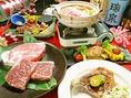 【平家亭のこだわり5】黒毛和牛や県産の島豚あぐーなど県産のブランド肉を数多くご用意。しゃぶしゃぶ、鉄板焼き、ステーキなど様々な調理方法でお楽しみいただけます。