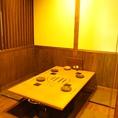 4~6名様用の掘りごたつ席。4テーブル連結も可能です。