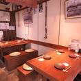 テーブル席には全テーブルすだれ付♪6名以上でテーブルでのご宴会も承ります。