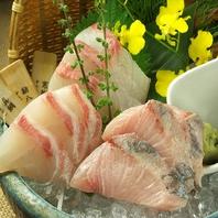 日ごとに変わる新鮮魚介