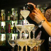 シャンパンタワーで乾杯♪