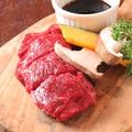 料理メニュー写真[赤身] 黒毛和牛ランプステーキ