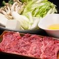 料理メニュー写真桜肉すきやき鍋・桜しゃぶしゃぶ
