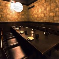 ◆落ち着いた雰囲気の和モダン個室が人気!