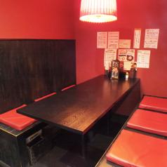 6名様掛けテーブル席です。