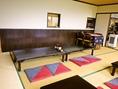 子供連れ家族での利用にもぴったりのお座敷席はゆったりした作り。多人数の宴会ものんびり和やかに!