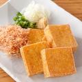 料理メニュー写真出来たて豆腐の油揚げ