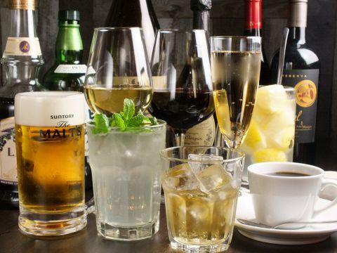 ワインはもちろんビール・カクテルなども充実しています!気軽に飲みに行ける楽しいお店♪
