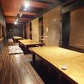 2階のお座敷席は、貸切で最大70名様収容可能です。