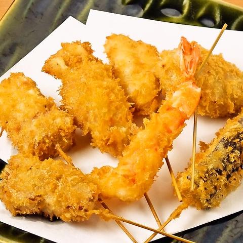 大阪ならではの下町の味と、リーズナブルな串揚げメニューを思う存分ご堪能ください。