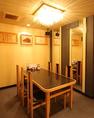 テーブル2卓(8名×2室)