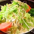 料理メニュー写真大根と水菜、揚げじゃこのサラダ