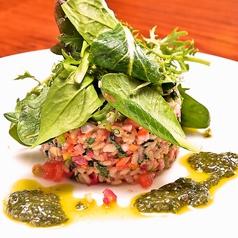料理メニュー写真自然栽培玄米と彩り野菜のライスサラダ チアシードと青じそのドレッシング