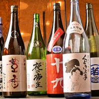 日本酒の数も豊富にご用意