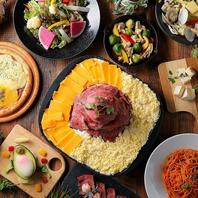チーズとお肉の創作料理が色々!!屋内ビアガーデン気分