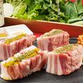 料理メニュー写真黒サムギョブサル(1人前)鹿児島産「六白豚」のサムギョプサル