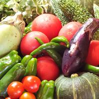 旬野菜は自家農園の無農薬野菜を使用しております◎