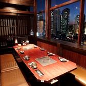 8名様用のお席です。新宿の夜景が一望できます!合コンなどにもピッタリ◎
