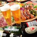料理メニュー写真アサヒ樽生、スパークリング(赤、白)も追加料金で飲み放題に◎