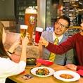 BIGグラスでサプライズ!!歓送迎会の主役へBIGビールでお祝いを★