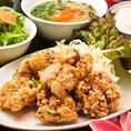 ≪ランチ≫ 鶏レモングラス唐揚げ定食♪(新橋 ランチ 土 日 休日 おすすめ 飲み放題 居酒屋)