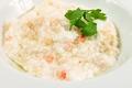料理メニュー写真蟹とメレンゲの煮込み(小)