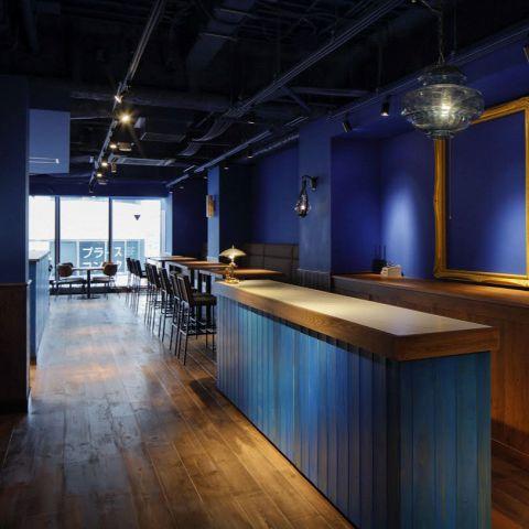 青を基調とした内装がオシャレ☆宴会や女子会、パーティーや誕生日にもご利用いただけます◎~dining lounge concept B ~